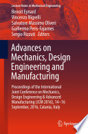 Advances on Mechanics  Design Engineering and Manufacturing