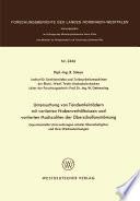 Experimentelle Untersuchungen axialer Überschallgitter und ihrer Wechselwirkungen