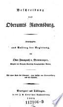 Beschreibung des Oberamts Ravensburg