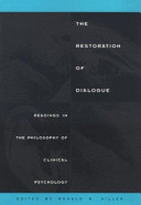 The Restoration Of Dialogue