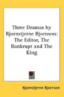 Three Dramas by Bjornstjerne Bjornson