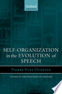 Self-organization in the Evolution of Speech