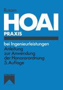 HOAI-Praxis bei Ingenieurleistungen