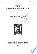 The Unpardonable Sin Book PDF