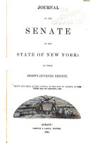 Journal of the Senate of the State of New York ...