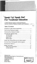 download ebook speak up, speak out; for vocational education pdf epub