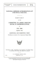 National Defense Authorization Act for Fiscal Year 2002