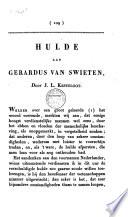 Hulde aan Gerardus van Swieten