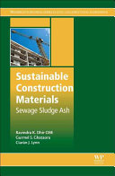 Sustainable Construction Materials Sewage Sludge Ash book