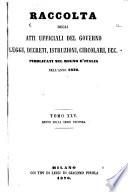 Raccolta degli atti ufficiali delle leggi, dei decreti, delle circolari ec. ec. pubblicate nel ...