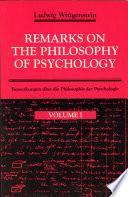 Bemerkungen über die Philosophie der Psychologie