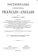 Book The International English and French Dictionary: French-English