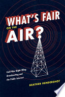 Ebook What's Fair on the Air? Epub Heather Hendershot Apps Read Mobile