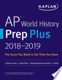 Ap World History Prep Plus 2018 2019 book