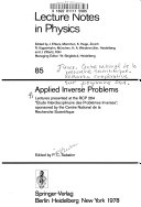Applied Inverse Problems book