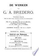 De werken van G. A. Bredero