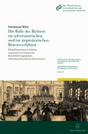 Die Rolle des Richters im adversatorischen und im inquisitorischen Beweisverfahren
