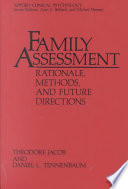 Family Assessment Rationale Methods And Future Directions