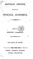 download ebook matthiae norbergi selecta opuscula academica pdf epub