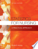 Statistics for Nursing  a Practical Approach