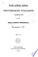 Vocabolario universale italiano compilato a cura della Societa tipografica Tramater e C i