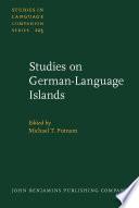 Studies on German Language Islands