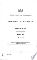 Minutes of Evidence  with Appendices and Index