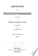 Jahresberichte der Geschichtswissenschaft