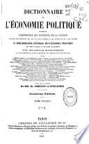Dictionnaire de l'économie politique