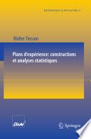 illustration du livre Plans d'expérience: constructions et analyses statistiques