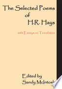 The Selected Poems of H R  Hays