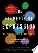 The Elements Of Expression : of expression helps word users