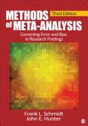 Methods of Meta-Analysis