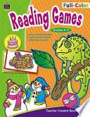 Full Color Reading Games  Grades K 1