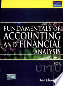Fundamentals of Accounting and Financial Analysis  For U P T U