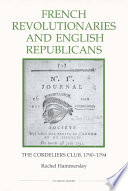 French Revolutionaries and English Republicans