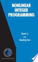 Nonlinear Integer Programming book