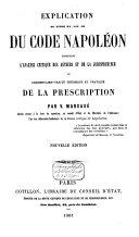 Explication théorique et pratique du Code Napoléon, tome onzième