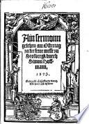 Ain sermon geschen am Ostertag zu der frwe messe zu Stolbergk (von der geniessunge, des fleisches und blutes Christi)