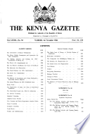 Kenya Gazette Government Of The Republic Of Kenya It