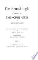 The Heimskringla  A History of The Norse Kings