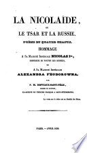 La Nicolaide  ou le tsar et la Russie