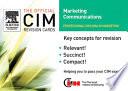 CIM Revision Cards 05 06  Marketing Communications
