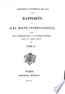Exposition universelle de 1855   Rapports du jury mixte international