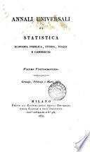 Annali universali di statistica, economia pubblica, storia, viaggi e commercio
