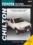 Chilton S Toyota Tacoma 2005 09 Repair Manual