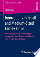 Innovations In Small And Medium Sized Family Firms