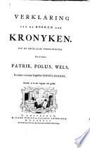 Verklaring van de boeken der Kronyken