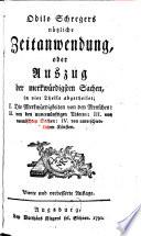 Odilo Schregers n  tzliche Zeitanwendung  oder Auszug der merkw  rdigsten Sachen