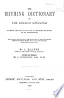 The Rhyming Dictionary of the English Language